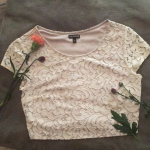 Express, (S), cream, beautiful pattern, half shirt